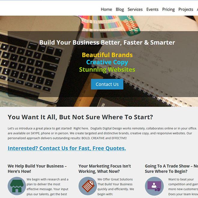 Dogtails Design Website