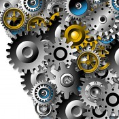 Image of gears, illustrating that Development is putting all the pieces together